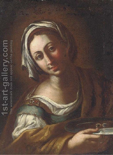 Saint Lucy by (after) Antonio Amorosi - Reproduction Oil Painting