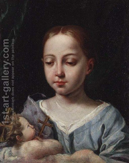 The Madonna and Child by (after) Antonio Amorosi - Reproduction Oil Painting