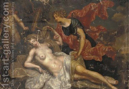 Jupiter and Callisto by (after) Augustin Terwesten - Reproduction Oil Painting