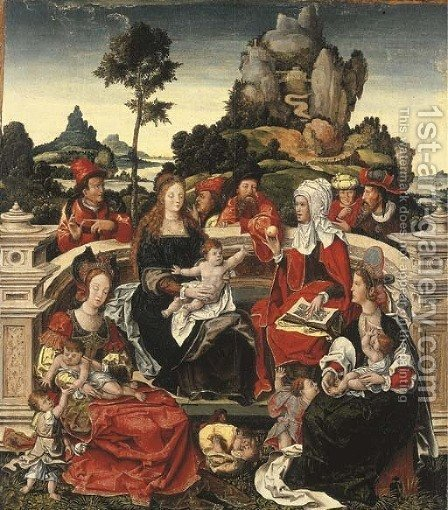 The Holy Kinship by (after) Orley, Bernard van - Reproduction Oil Painting