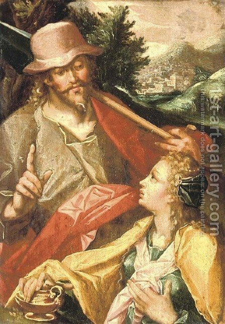 Noli me Tangere by (after) Bartholomaeus Spranger - Reproduction Oil Painting