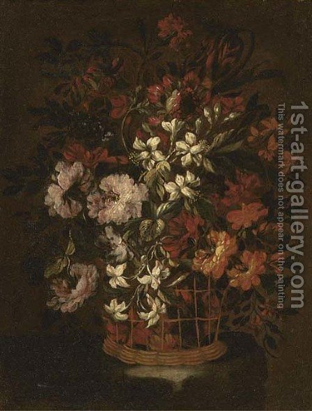 Carnations by (after) Bartolome Perez - Reproduction Oil Painting