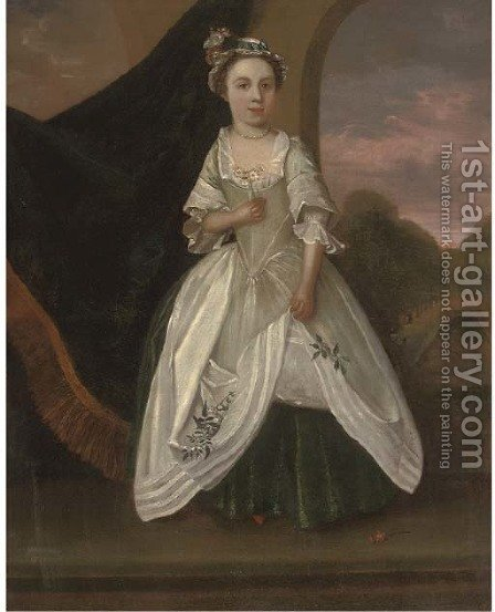 Portrait of Miss Whitehead by (after) Bartholomew Dandridge - Reproduction Oil Painting