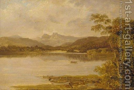 Langdale Pikes from Lowood by (after) Benjamin Williams Leader - Reproduction Oil Painting