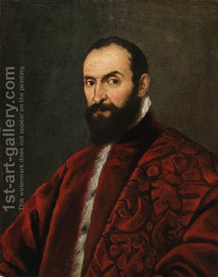 Portrait of a Venetian Senator by (after) Bernardo Strozzi - Reproduction Oil Painting