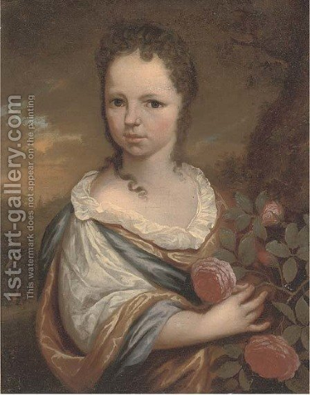 Portrait of a girl by (after) Carel De Moor - Reproduction Oil Painting
