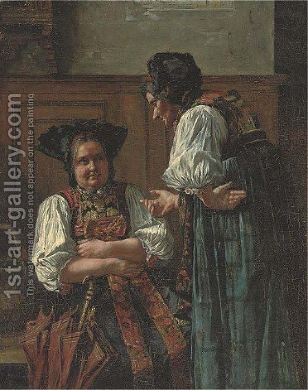 The discussion by (after) Carl Kronberger - Reproduction Oil Painting