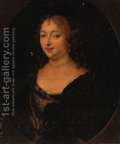 Portrait of a lady 5 by (after) Charles Beaubrun - Reproduction Oil Painting