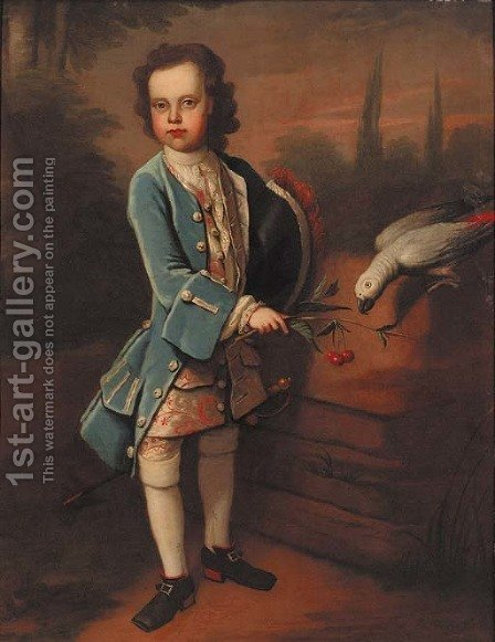 Portrait of a boy by (after) Charles D'Agar - Reproduction Oil Painting