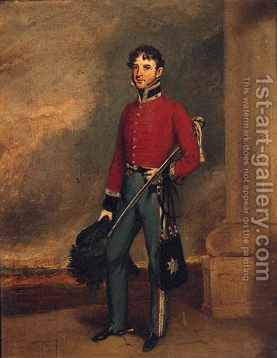 Portrait Of An Officer by (after) Charles E. Ambrose - Reproduction Oil Painting