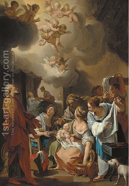 The Nqativity of the Virgin by (after) Charles Joseph Natoire - Reproduction Oil Painting