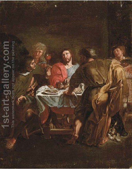 The Supper at Emmaus by (after) Charles Lebrun - Reproduction Oil Painting