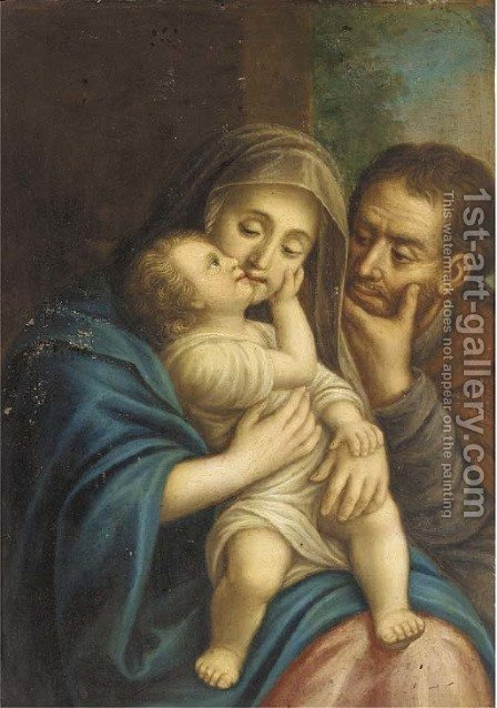 The Holy Family by (after) Christian Wilhelm Ernst Dietrich - Reproduction Oil Painting