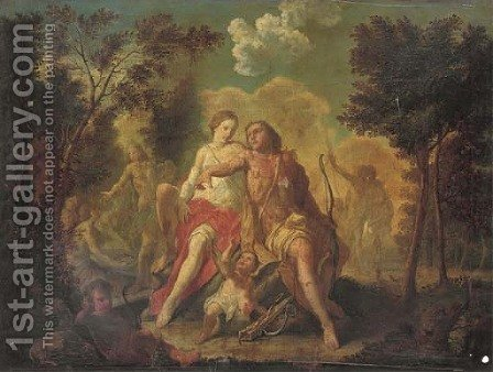 Venus and Adonis by (after) Claudio Francesco Beaumont - Reproduction Oil Painting