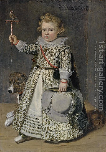 Portrait of boy aged two by (after) Cornelis De Vos - Reproduction Oil Painting
