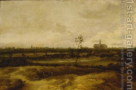 A view of Haarlem by (after) Cornelis Symonsz Van Der Schalcke - Reproduction Oil Painting