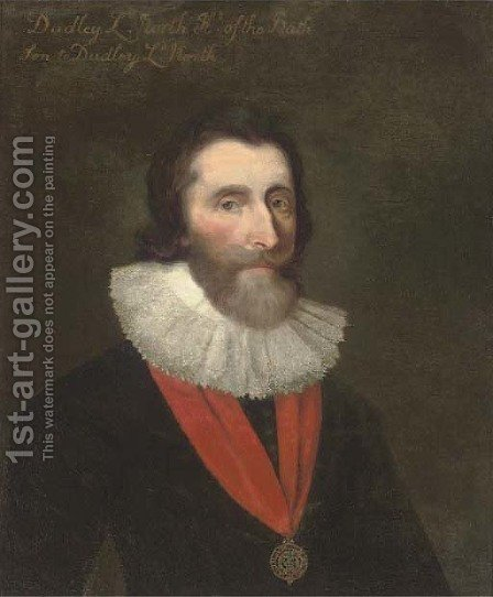 Portrait of Dudley, 4th Baron North (1602-1648) by (after) Daniel Mytens - Reproduction Oil Painting