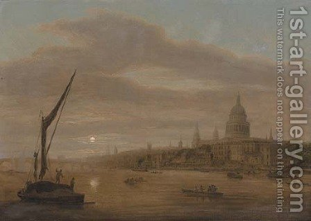 St. Paul's Cathedral from the Thames, early evening by (after) Daniel Turner - Reproduction Oil Painting