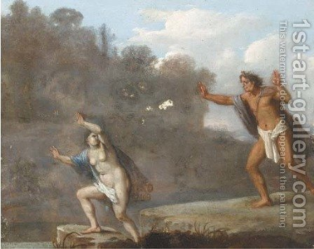 Apollo and Daphne by (after) Daniel Vertangen - Reproduction Oil Painting