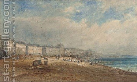 Brighton Beach by (after) David Sen Cox - Reproduction Oil Painting