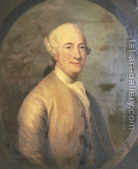 Portrait of Thomas, Lord Drumlanrig (d.c.1751) by (after) David Martin - Reproduction Oil Painting
