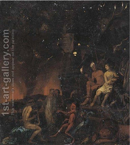 Orpheus in the Underworld by (after) David Ryckaert III - Reproduction Oil Painting