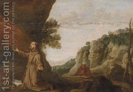 Saint Francis of Assisi receiving the Stigmata by (after) David The Younger Teniers - Reproduction Oil Painting