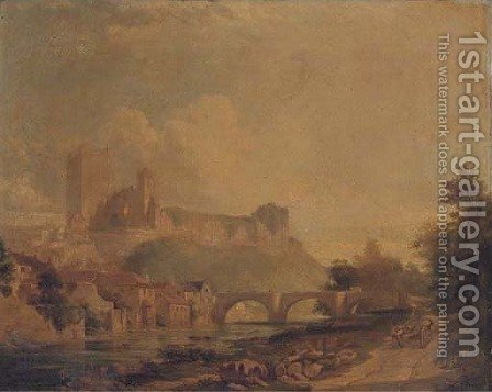Richmond Castle, Yorkshire by (after) Edmund John Niemann - Reproduction Oil Painting