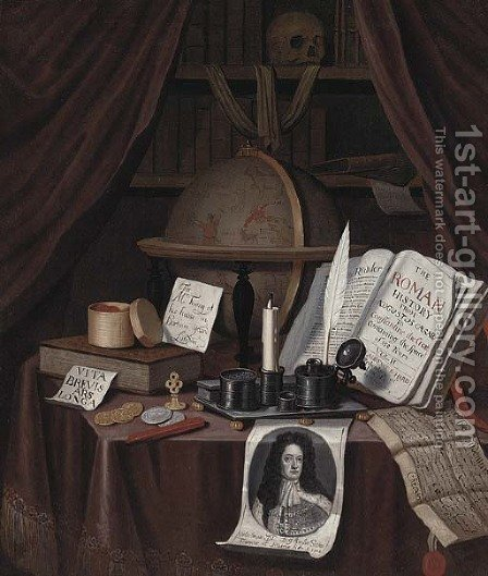 A Vanitas for John Turing by (after) Edward Collier - Reproduction Oil Painting