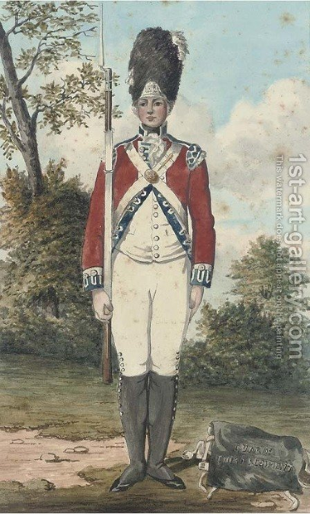 An officer of the Third Guards Regiment by (after) Dayes, Edward - Reproduction Oil Painting