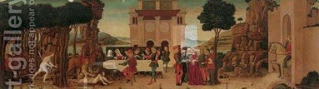 The story of Nastagio degli Onesti by (after) Ercole De'Roberti - Reproduction Oil Painting