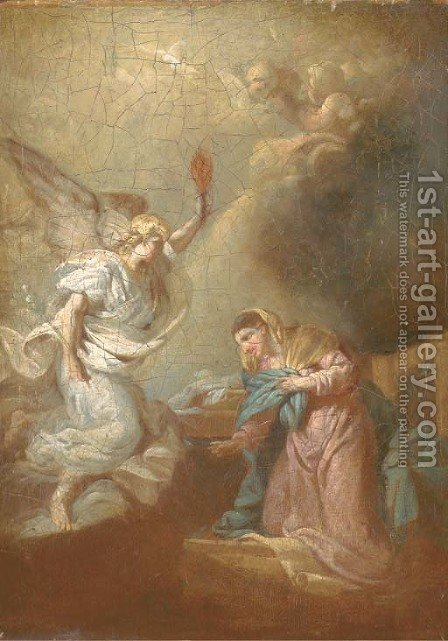 The Annunciation by (after) Etienne Parrocel, Parrocel Le Romain - Reproduction Oil Painting