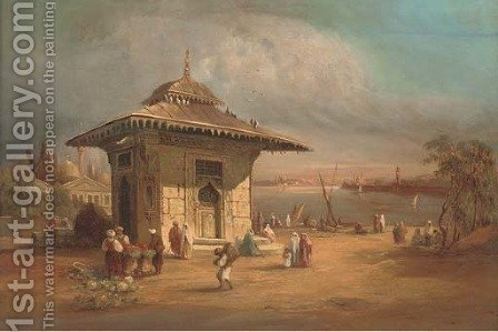 Sweet waters of Asia, Constantinople by (after) Felix Francois Georges Philibert Ziem - Reproduction Oil Painting