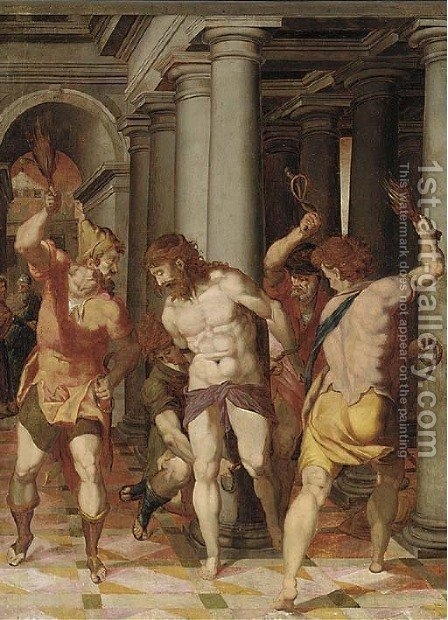 The Flagellation by (after) Federico Zuccaro - Reproduction Oil Painting