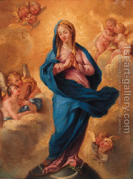 The Immaculate Conception by (after) Filipo Lauri - Reproduction Oil Painting