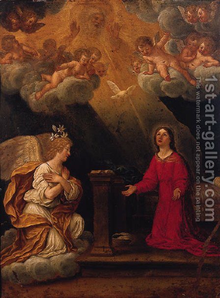 The Annunciation by (after) Francesco Albani - Reproduction Oil Painting