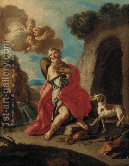 Saint Roch by (after) Francesco De Mura - Reproduction Oil Painting
