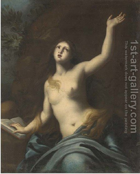 Saint Mary Magdalene in the Wilderness by (after) Francesco Furini - Reproduction Oil Painting