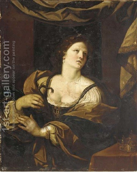 Cleopatra by (after) Giovanni Francesco Guercino (BARBIERI) - Reproduction Oil Painting