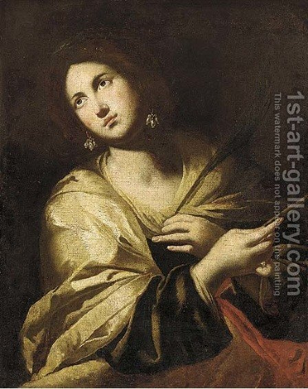 A Female Saint by (after) Francesco Guarino - Reproduction Oil Painting