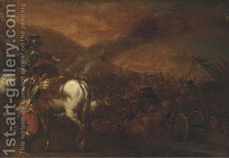 A cavalry battle by (after) Francesco Simonini - Reproduction Oil Painting