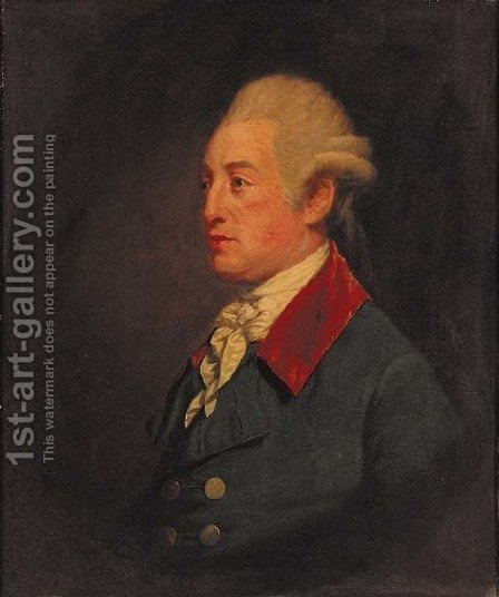Portrait of a gentleman by (after) Francis Cotes - Reproduction Oil Painting