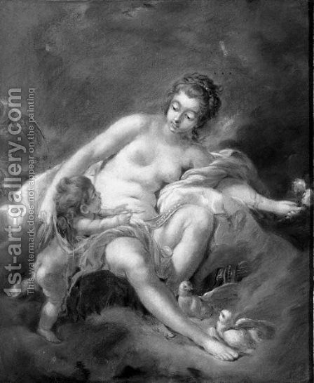 Venus playing with Cupid by (after) Francois Boucher - Reproduction Oil Painting