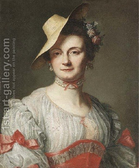 Portrait of a lady 2 by (after) Baron Francois Gerard - Reproduction Oil Painting