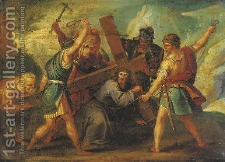 Christ on the Road to Calvary by (after) Frans II Francken - Reproduction Oil Painting