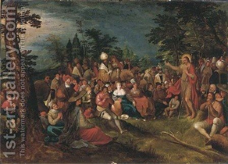The Predication of the Baptist by (after) Frans II Francken - Reproduction Oil Painting