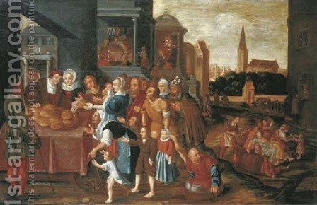 The Seven Acts of Mercy by (after) Frans II Francken - Reproduction Oil Painting