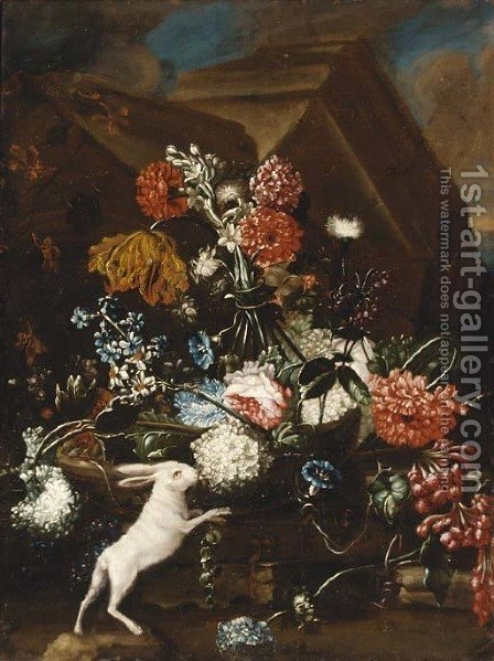 Carnations by (after) Franz Werner Von Tamm - Reproduction Oil Painting