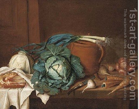 Cabbages by (after) Gaspard, Or Gabriel Gresely - Reproduction Oil Painting