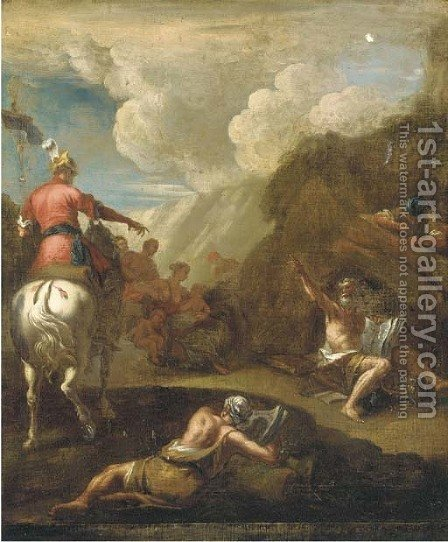 Alexander and Diogenes by (after) Gaspare Diziani - Reproduction Oil Painting